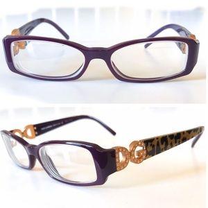 Dolce & Gabbana Purple Leopard Glasses